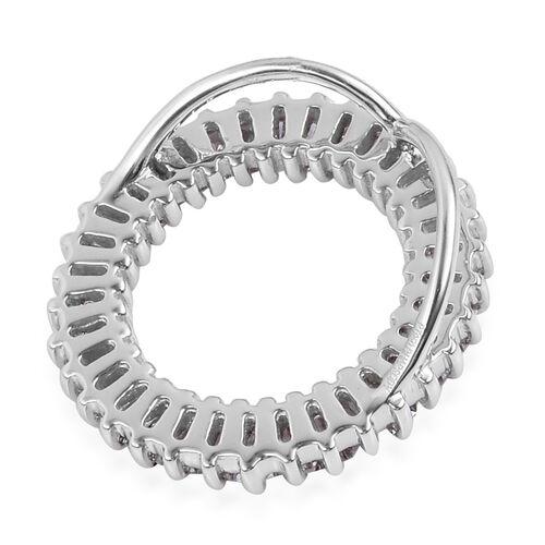 Very Limited Available- RHAPSODY 950 Platinum IGI Certified Diamond (Bgt) (VS/E-F) Circle of Life Pendant 0.50 Ct.