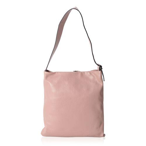 Close Out Deal 100% Genuine Leather Dusky Pink Colour Large Tote Bag with Adjustable Shoulder Strap