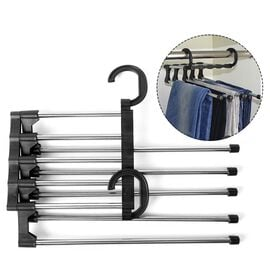 Set of 3- Five Layered Trouser Rack in Black
