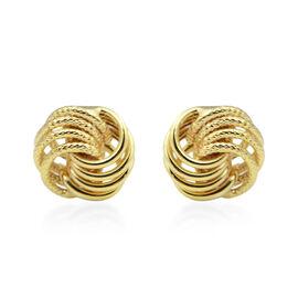Knot Stud Earrings in 9K Gold