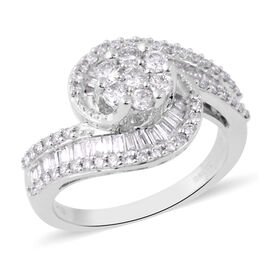 NY Close Out 14K White Gold Diamond (I1-I2/G-H) Ring 1.00 Ct - SIZE N - Resizing 3 up or 3 down.