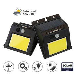 ROLSON 2Pcs COB PIR Wall Solar Lights (12X10 CM)