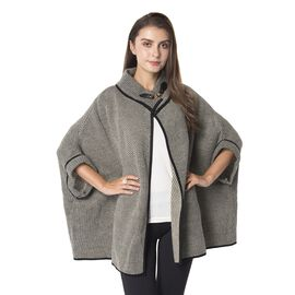 Designer Inspired-Charcoal Gray Colour Cape (Size 85x70 Cm)
