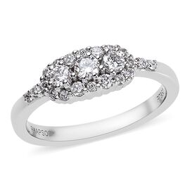 RHAPSODY 950 Platinum IGI Certified Diamond (Rnd) (VS/E-F) Ring 0.49 Ct.