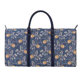 SIGNARE - Tapestry Collection - Austen Blue Big Travel Bag ( W 57cm x H 30cm x D 29cm)