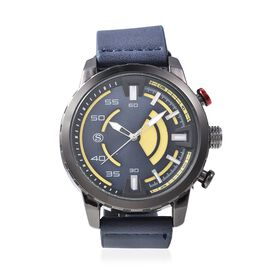 STRADA Japanese Movement Water Resistant Watch with Navy Blue Colour Strap