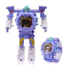 Purple Colour Mecha Robot Electronic LED Dial Watch