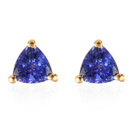 Tanzanite Earrings (with Push Back) in 14K Gold Overlay Sterling Silver
