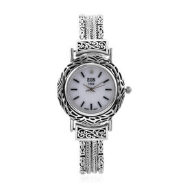 Royal Bali Collection - EON 1962 Swiss Movement Water Resistant  Bracelet Watch (Size 8) in Sterling