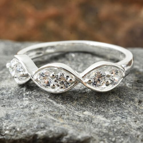 J Francis - Sterling Silver (Rnd) Infinity Ring Made with SWAROVSKI ZIRCONIA
