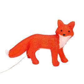 Fox Decorative Lamp with Multicolour Light (Size 40x27 Cm) - Red