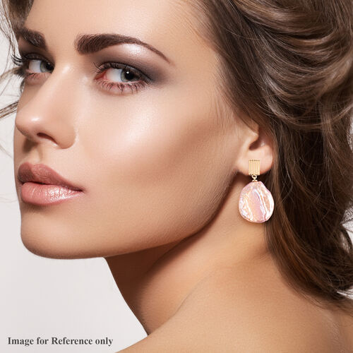 Baroque Pearl Drop Earrings in Yellow Gold Overlay Sterling Silver