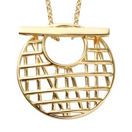 Sundays Child - 14K Gold Overlay Sterling Silver Detachable Pendant with Chain (Size 20)