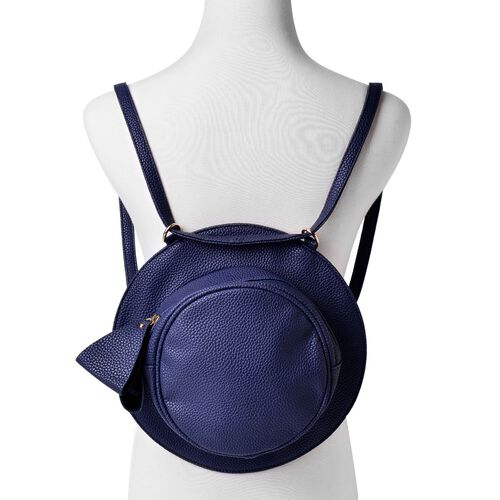 Navy Colour Crossbody Bag with Adjustable Shoulder Strap for use as backpack (Size 27.5x17x7 Cm)