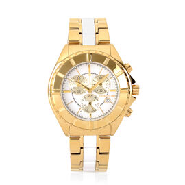 CERRUTI 1881: Stainless Steel Chronograph Unisex Watch - Water Resistant 10 Bar - Swiss Parts - Gold
