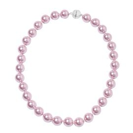 Lavender Colour Shell Pearl (Rnd 13-15 mm) Necklace (Size 20) with Magnetic Lock