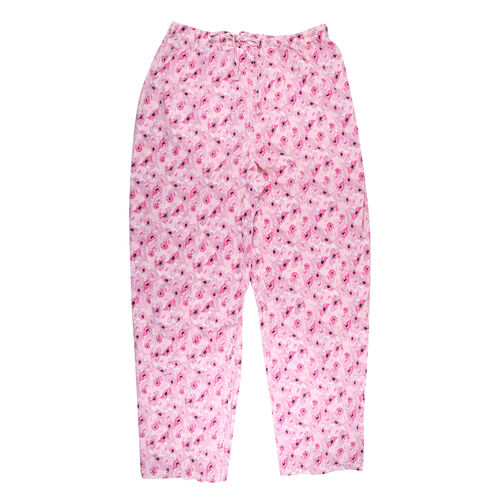 2 Piece Set - Amanda Paige Pink Colour Knit Pyjama and Long Sleeve Top (Size M, 12-14)