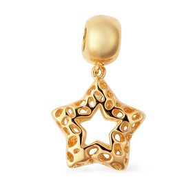 RACHEL GALLEY Yellow Gold Overlay Sterling Silver Lattice Work Star Charm or Pendant