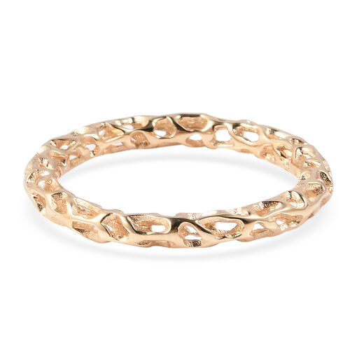 RACHEL GALLEY Allegro Collection - Yellow Gold Overlay Sterling Silver Lattice Band Ring