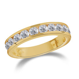New York Close Out Deal-14K Yellow Gold Diamond (Rnd) (I1/G-H) Ring 1.000 Ct.