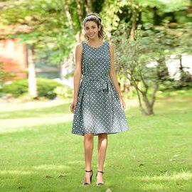 LA MAREY viscose print sleeveless dress