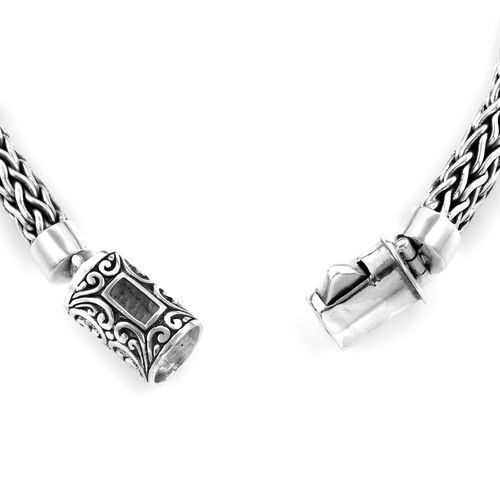 Bali Legacy Collection Sterling Silver Tulang Naga Bracelet (Size 7.5), Silver wt 50.10 Gms.
