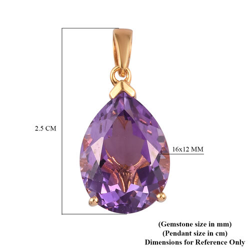 Moroccan Amethyst Pendant in 14K Gold Overlay Sterling Silver 8.34 Ct.
