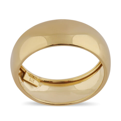 Vicenza Collection High Polished Band Ring in 9K Yellow Gold