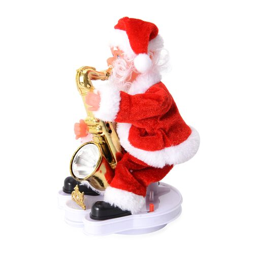 Santa Claus Decorations Uk: Christmas Decorations Singing Santa Claus With Saxophone