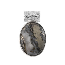 Handcrafted Pyrite (Ovl) Pendant in Sterling Silver 15.120 Ct.