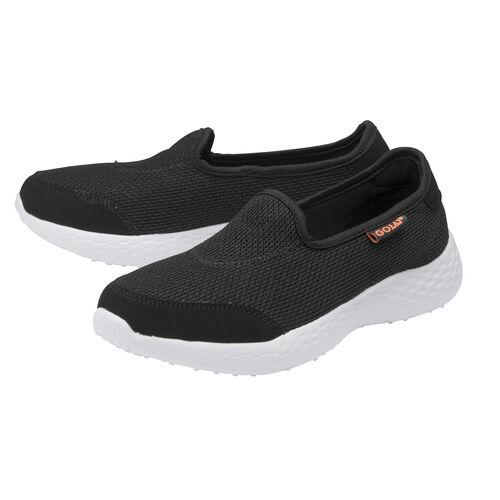 Gola San Luis Slip on Trainer (Size 7) - Black/Coral