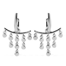 Sundays Child - Platinum Overlay Sterling Silver Dangle Earrings (with Push Back), Silver wt. 8.00 G