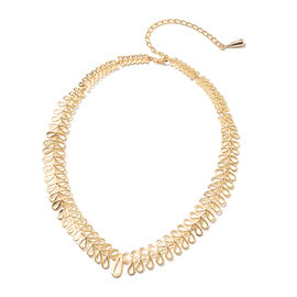 LucyQ Collar Necklace in Yellow Gold Plated Sterling Silver 38.54 Grams 16 with 4 inch Extender