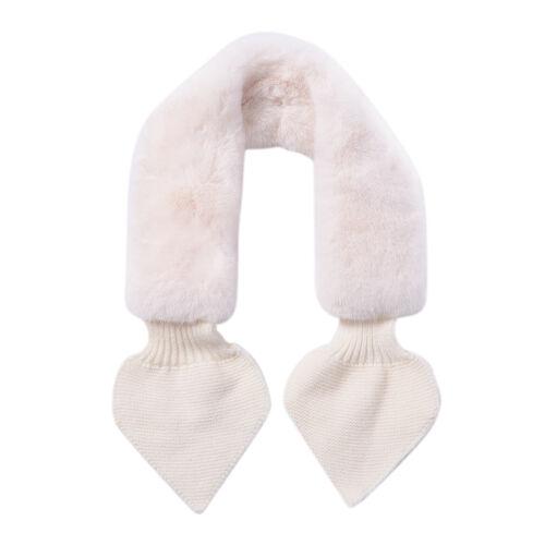 Faux Fur Scarf (Size 10x88cm) - White