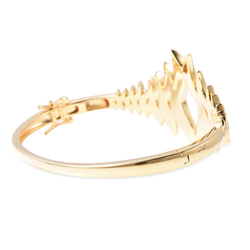 Lucy Q Flame Collection - Yellow Gold Overlay Sterling Silver Bangle (Size 7.5), Silver Wt. 35.58 Gms