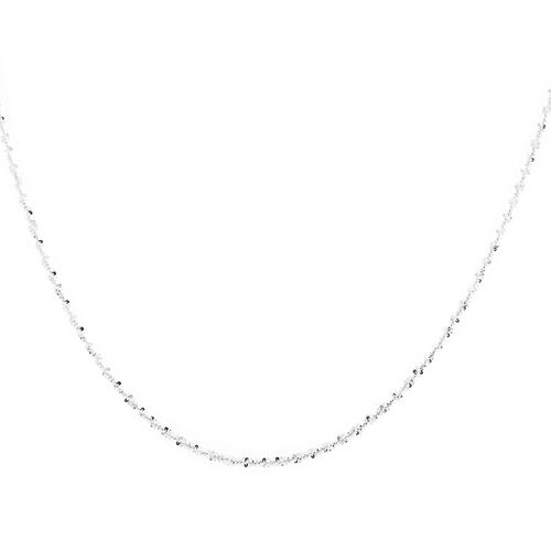 NY Close Out Deal- 3 Piece Set Simulated Diamond Earrings (with Push Back)  and Chain (Size 18) in Sterling Silver