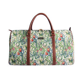 DOD - SIGNARE - Tapastry Collection -Golden Lily Big Holdall with Strap (31 x 30 x 13.5 cms)