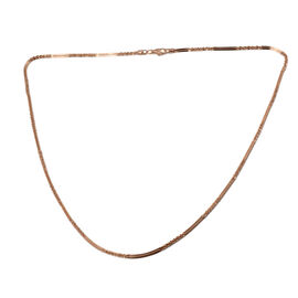 Rose Gold Overlay Sterling Silver Necklace (Size 20), Silver wt 5.29 Gms