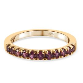 Rhodolite Garnet Ring in 14K Gold Overlay Sterling Silver 0.50 ct  0.500  Ct.