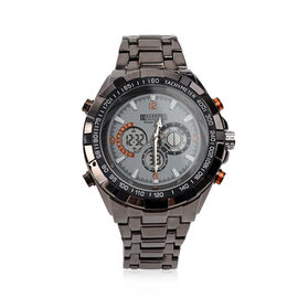Barkers Of Kensington - Mens Mega Sport Watch With 3 Function Dial and Night Vision Back Light - Gre