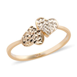 Royal Bali Collection Diamond Cut Double Heart Ring