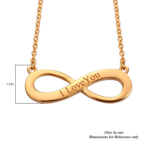Personalise Engraved Infinity Necklace in Silver