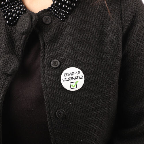 Vaccinated Badge in White (Size- 4.5 CM)