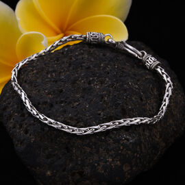 Royal Bali Collection - Sterling Silver Padian Bracelet (Size 7.5), Silver wt. 8.44 Gms