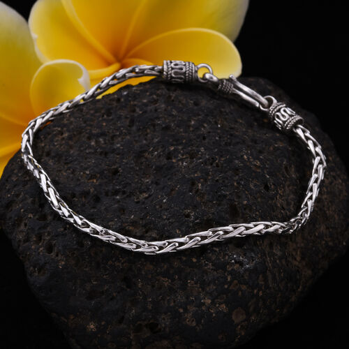 Royal Bali Collection - Sterling Silver Padian Bracelet (Size 7.5), Silver wt. 8.44 Gms