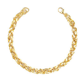 Italian Made- 9K Yellow Gold Bracelet (Size 8.5),  Gold Wt. 8.42 Gms