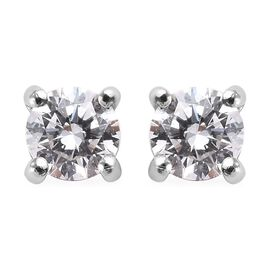 RHAPSODY 950 Platinum Diamond (Rnd) Stud Earrings 0.25 Ct.
