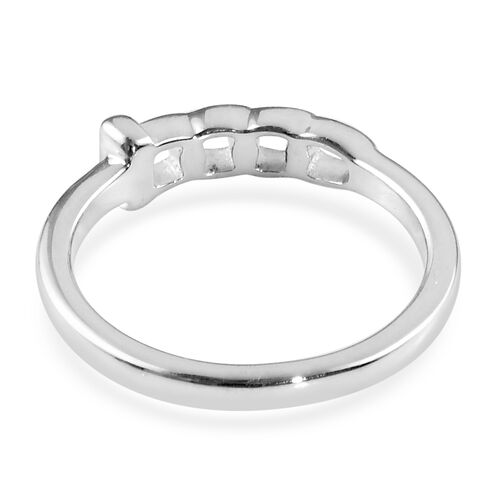 Platinum and Yellow Gold Overlay Sterling Silver Ring