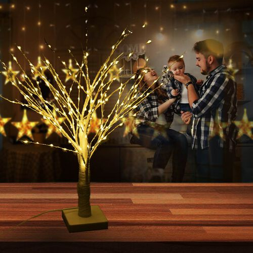 60 cm Tall Tree with 210 LED Warm Lights