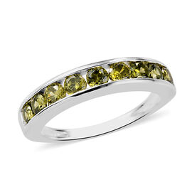 ELANZA AA Simulated Peridot Half Eternity Band Ring in Sterling Silver 1.15 Ct.